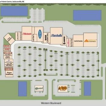 Plan of mall Cross Pointe Centre