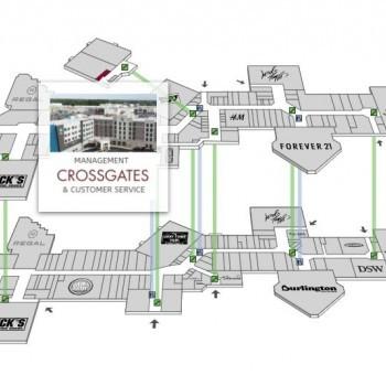 Plan of mall Crossgates Commons