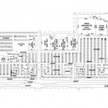 Plan of mall Crossings at Hobart