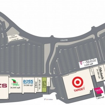 Plan of mall Crosspoint Shopping Center