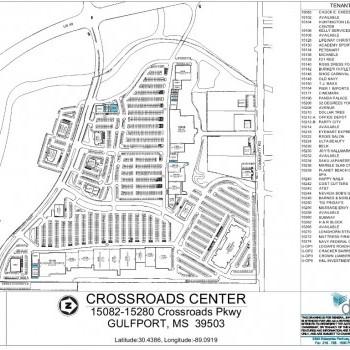 Plan of mall Crossroads Center