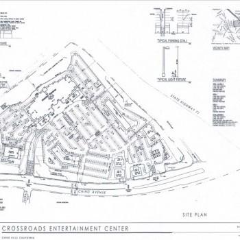 Plan of mall Crossroads Entertainment Center