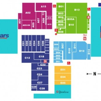 Plan of mall Crossroads Mall