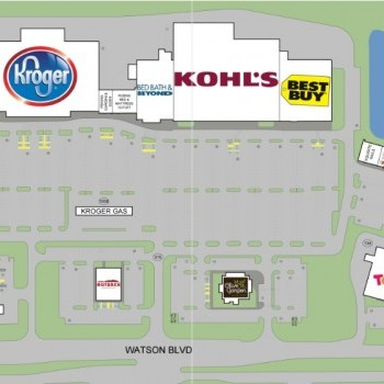 Plan of mall Crossroads Marketplace