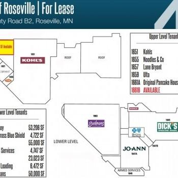 Plan of mall Crossroads of Roseville