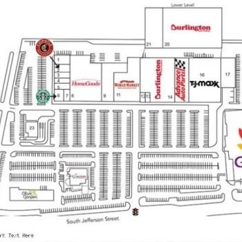 Plan of mall Crossroads Place