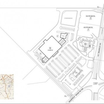 Plan of mall Crossroads Plaza