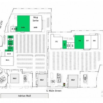 Plan of mall Crossroads Plaza