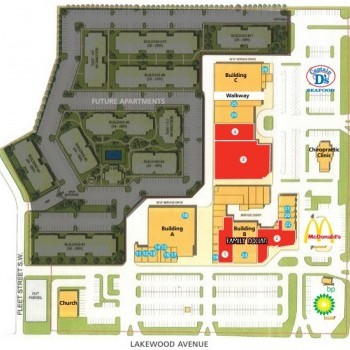 Plan of mall Crossroads Shopping Center