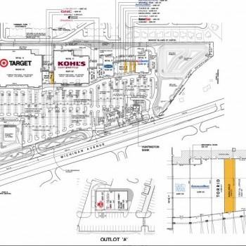 Plan of mall Crossroads Village