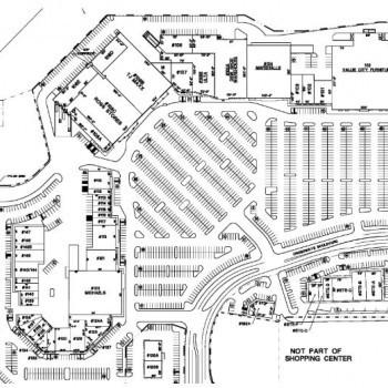 Plan of mall Crossways Shopping Center