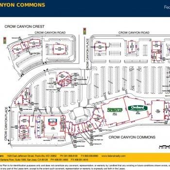 Plan of mall Crow Canyon Commons