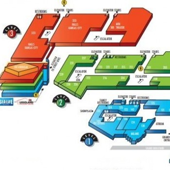 Plan of mall Crown Center Shops