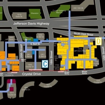 Plan of mall Crystal City Shops
