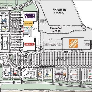 Plan of mall Culebra Market