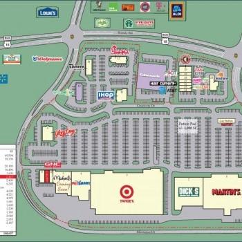 Plan of mall Culpeper Colonnade