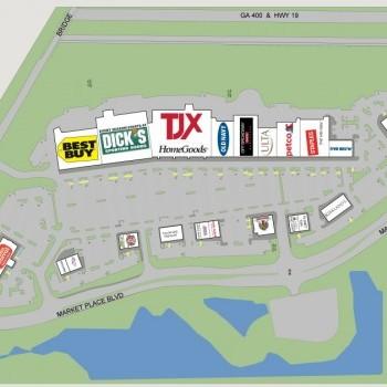 Plan of mall Cumming Town Center