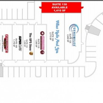 Plan of mall Custer Bridges