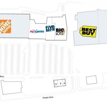 Plan of mall Cuyahoga Falls Market Center