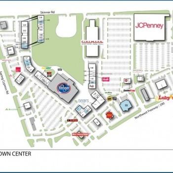 Plan of mall Cyfair Town Center