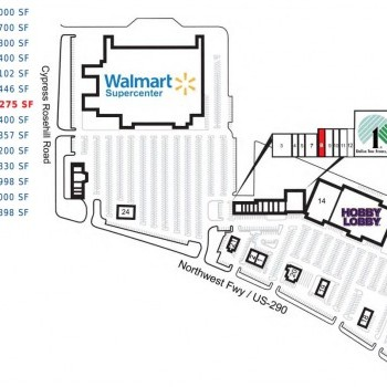 Plan of mall Cypress Mill Plaza