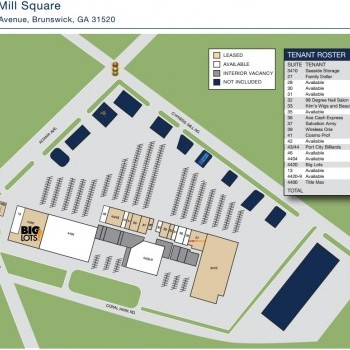 Plan of mall Cypress Mill Square