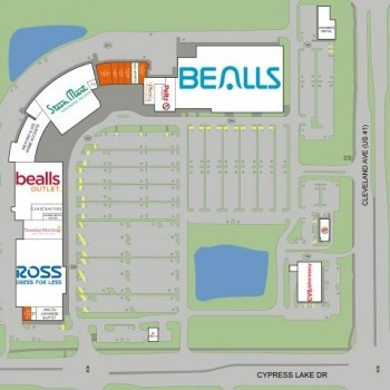 Plan of mall Cypress Trace