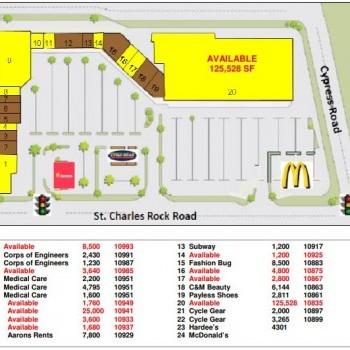 Plan of mall Cypress Village