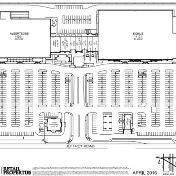 Plan of mall Cypress Village Shopping Center