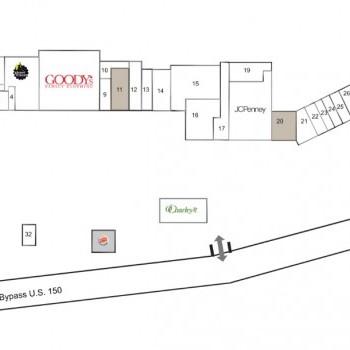 Plan of mall Danville Manor