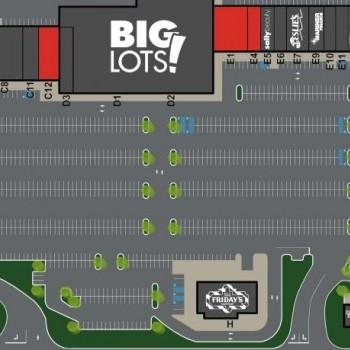 Plan of mall Dauphin Plaza Shopping Center