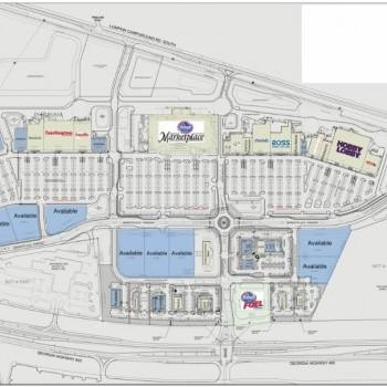 Plan of mall Dawson Marketplace