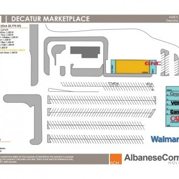 Plan of mall Decatur Marketplace