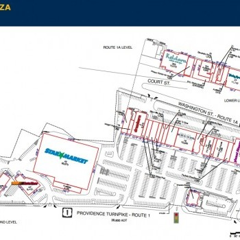 Plan of mall Dedham Plaza