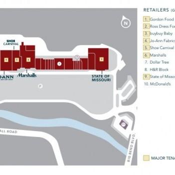 Plan of mall Deer Creek Shopping Center