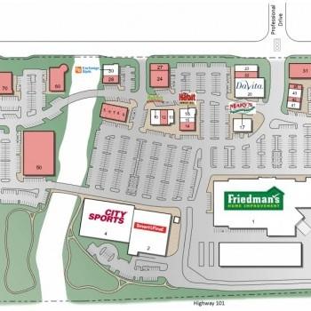 Plan of mall Deer Creek Village