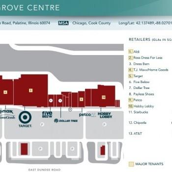 Plan of mall Deer Grove Center