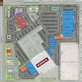 Plan of mall Deer Springs Crossing