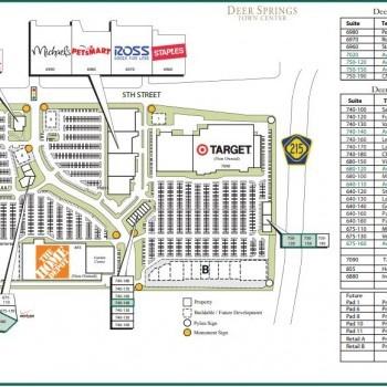 Plan of mall Deer Springs Town Center