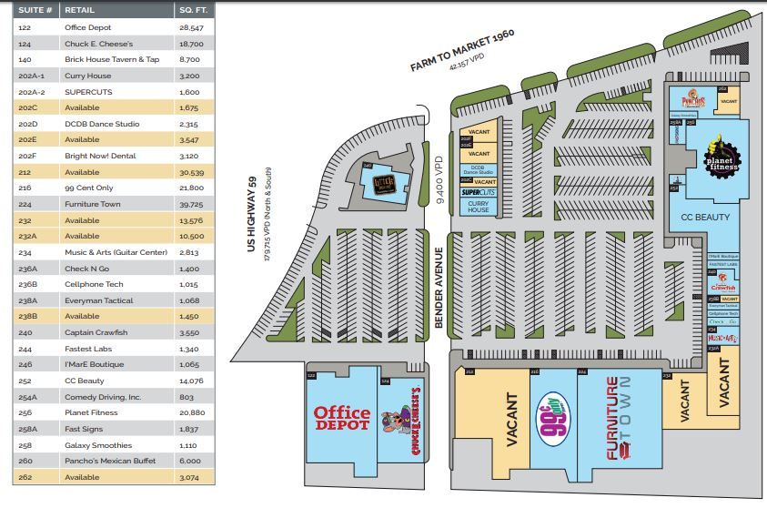 Deerbrook Crossing - store list, hours, (location: Humble ...