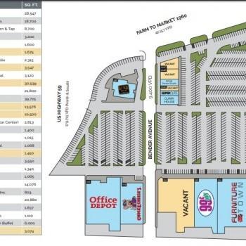 Plan of mall Deerbrook Crossing