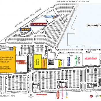 Plan of mall Deerbrook Mall