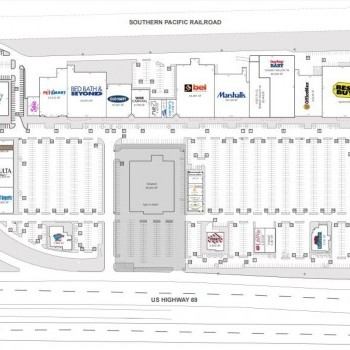 Plan of mall Deerbrook Marketplace