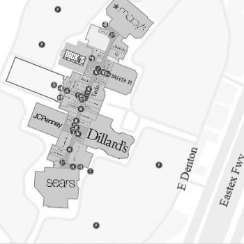 Plan of mall Deerbrook Plaza Shopping Center