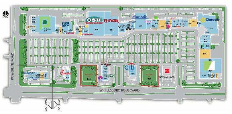 The Florida Mall Map.Deerfield Mall Store List Hours Location Deerfield Beach