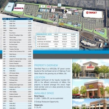 Plan of mall Deerfield Place