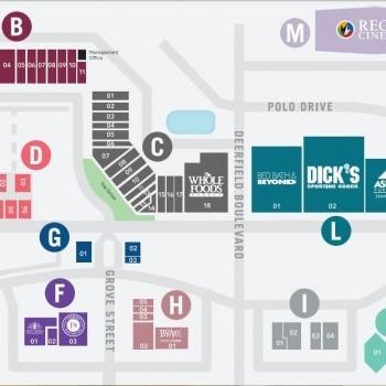 Plan of mall Deerfield Towne Centre