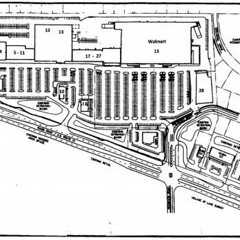 Plan of mall Deerpath Court Shopping Center
