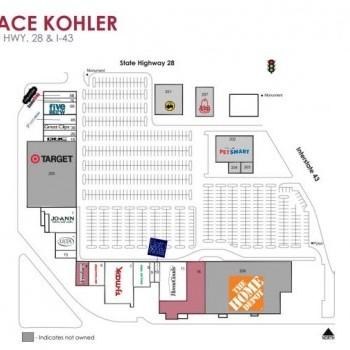 Plan of mall Deertrace Kohler