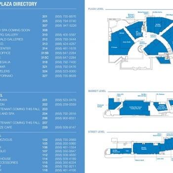 Plan of mall Del Mar Plaza